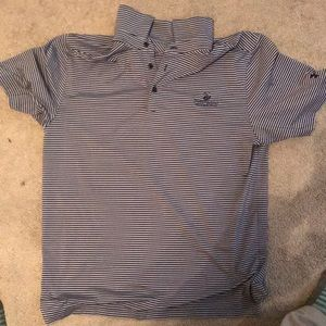 Under Armour Golf Shirt - Blue and Gray